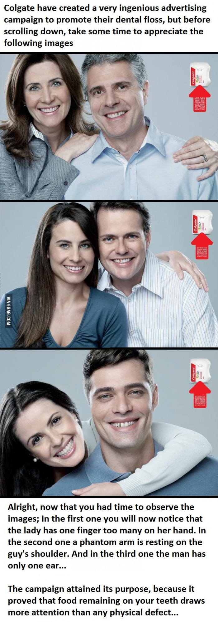 colgate dental floss ingenious advertise